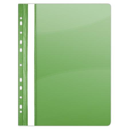 Gyorsfűző, lefűzhető, PVC, A4, DONAU, zöld (10 db)