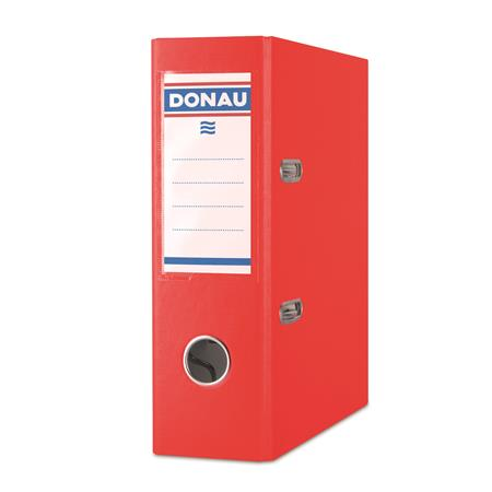 "DONAU iratrendező, 75 mm, A5, PP/karton ""Master"" piros"