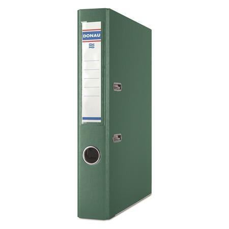 """DONAU iratrendező, 50 mm, A4, PP, élvédő sínnel """"Premium"""" zöld"""