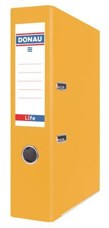 """DONAU iratrendező, 75 mm, A4, PP/karton, élvédő sínnel """"Life"""" neon sárga"""
