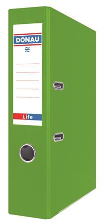 "DONAU iratrendező, 75 mm, A4, PP/karton, élvédő sínnel ""Life"" neon zöld"
