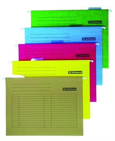 Függőmappa, karton, A4, DONAU, sárga (25 db)