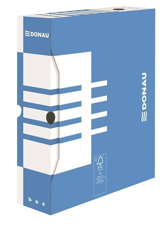 Archiválódoboz, A4, 80 mm, karton, DONAU, kék