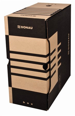 Archiválódoboz, A4, 155 mm, karton, DONAU, natúr
