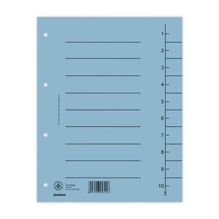 Regiszter, karton, A4, DONAU, kék (100 db)