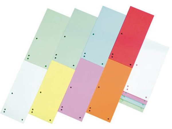 Elválasztócsík, karton, DONAU, vegyes színek (100 db)