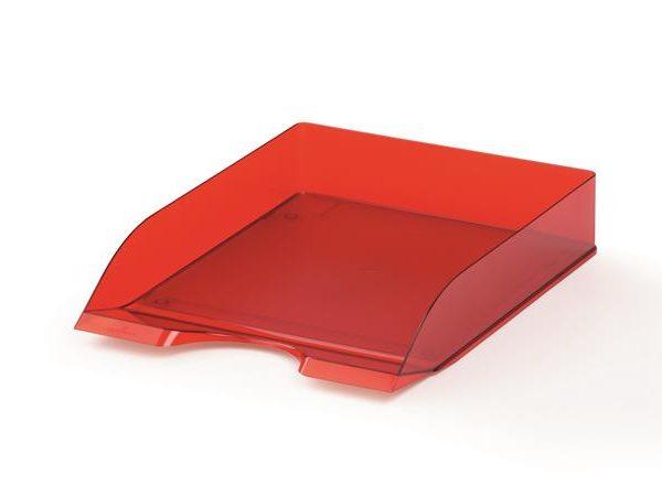 """Irattálca, műanyag, DURABLE, """"Basic"""", áttetsző piros"""