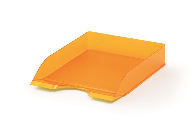 """Irattálca, műanyag, DURABLE, """"Basic"""", áttetsző narancssárga"""