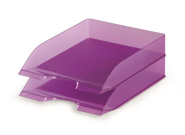 """Irattálca, műanyag, DURABLE, """"Basic"""", áttetsző lila"""