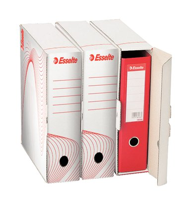 """Archiválódoboz, iratrendezőnek, 97 mm, újrahasznosított karton, ESSELTE """"Standard"""" , fehér"""