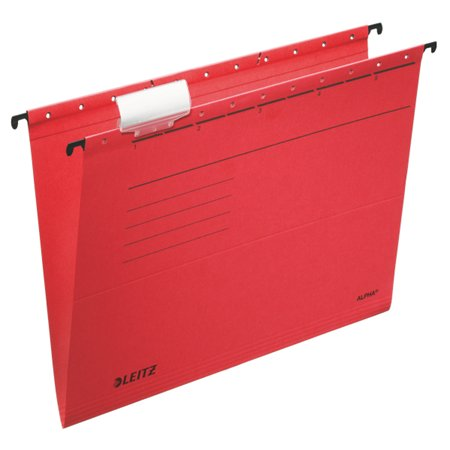 "Függőmappa, karton, A4, LEITZ ""Alpha Standard"", piros (25 db)"