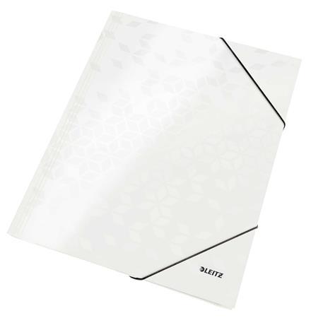 "Gumis mappa, 15 mm, karton, A4, LEITZ ""Wow"", fehér"