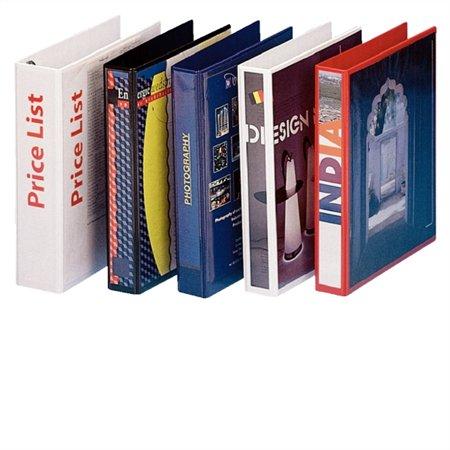 Gyűrűs könyv, panorámás, 4 gyűrű, D alakú, 50 mm, A4, PP, ESSELTE, fekete