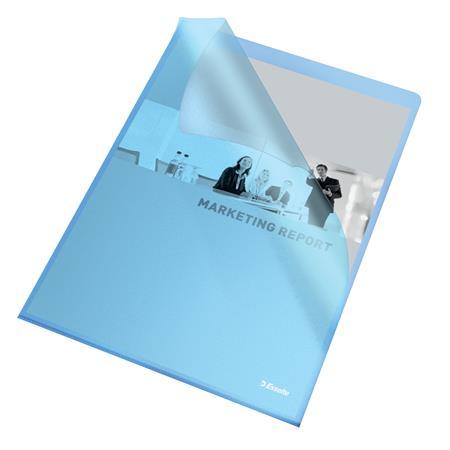 Cserecímke, Easyprint nyomtatható iratrendezőhöz, karton, 49x158 mm, ESSELTE, fehér (50 db)