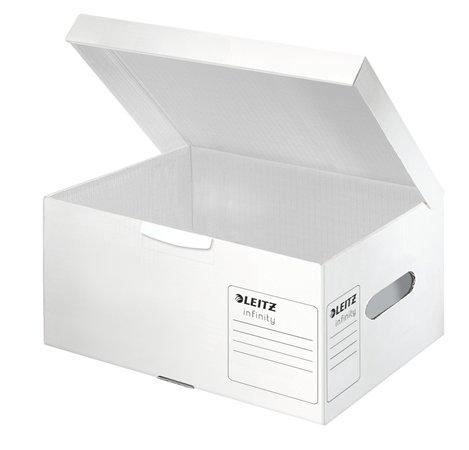 """Archiválókonténer, S méret, LEITZ """"Infinity"""", fehér"""