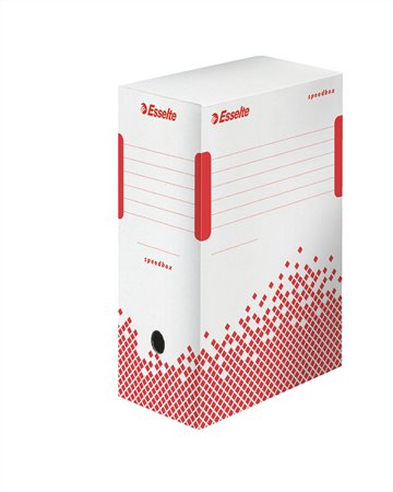 """Archiválódoboz, A4, 150 mm, újrahasznosított karton, ESSELTE """"Speedbox"""", fehér"""