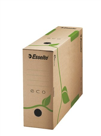 """Archiválódoboz, A4, 100 mm, újrahasznosított karton, ESSELTE """"Eco"""", barna"""
