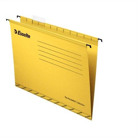 """Függőmappa, újrahasznosított karton, A4, ESSELTE """"Classic"""", sárga (25 db)"""