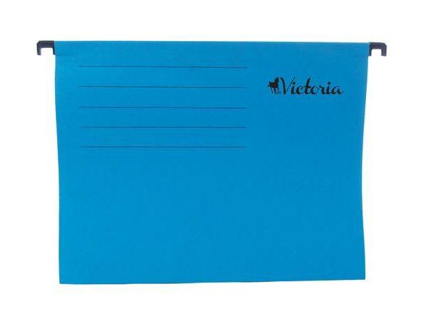 Függőmappa, karton, A4, VICTORIA, kék (25 db)