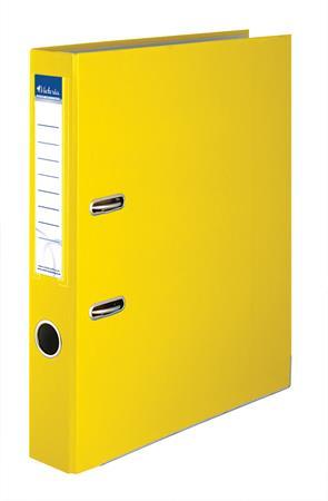 """VICTORIA iratrendező, 50 mm, A4, PP/karton, élvédő sínnel """"Basic"""" sárga"""