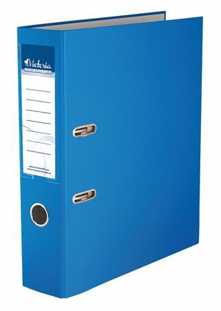 Victoria Basic iratrendező 75mm A4 PP/karton élvédő sín nélkűl, kék (IDI75KN)
