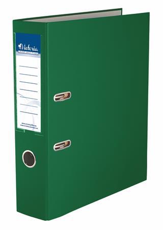 "VICTORIA iratrendező, 75 mm, A4, PP/karton ""Basic"" zöld (IDI75ZN)"