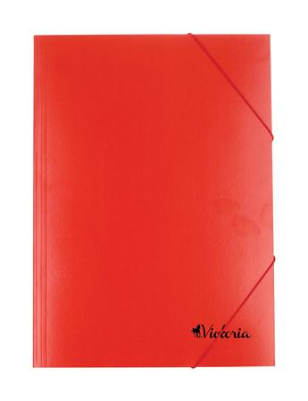 Gumis mappa, karton, A4, VICTORIA, piros