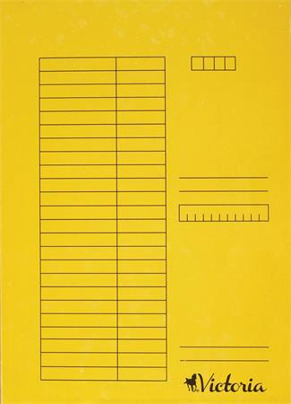 Gyorsfűző, karton, A4, VICTORIA, sárga (5 db)