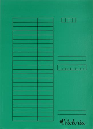 Gyorsfűző, karton, A4, VICTORIA, zöld (5 db)