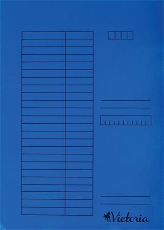 Gyorsfűző, karton, A4, VICTORIA, kék (5 db)
