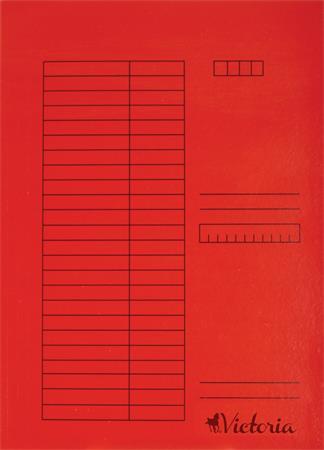Gyorsfűző, karton, A4, VICTORIA, piros (5 db)