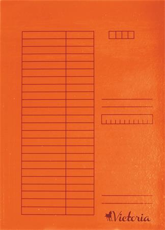 Gyorsfűző, karton, A4, VICTORIA, narancs (5 db)