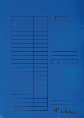 Pólyás dosszié, karton, A4, VICTORIA, kék (5 db)
