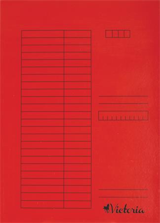 Pólyás dosszié, karton, A4, VICTORIA, piros (5 db)