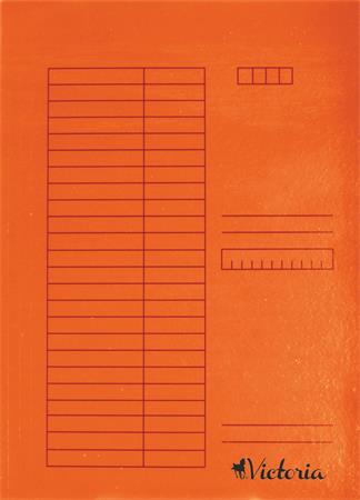 Pólyás dosszié, karton, A4, VICTORIA, narancs (5 db)