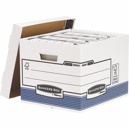 """Archiválókonténer, karton, standard, """"BANKERS BOX® SYSTEM by FELLOWES®"""", kék (10 db)"""