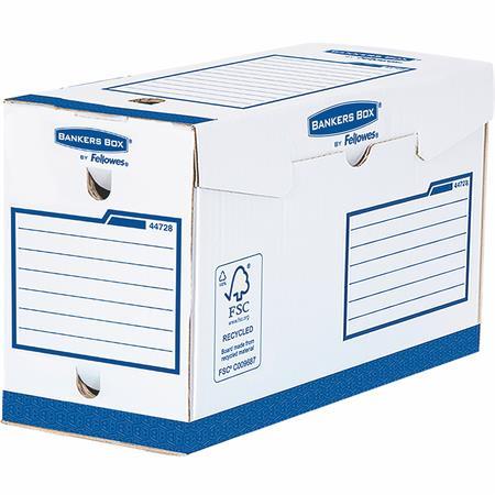 """Archiválódoboz, extra erős, A4+, 150 mm, FELLOWES """"Bankers Box Basic"""", kék- fehér (20 db)"""