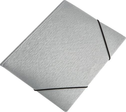 """Gumis mappa, 15 mm, PP, A4, PANTA PLAST """"Simple"""" metál ezüst"""