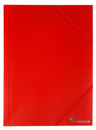 Gumis mappa, 15 mm, PP, A4, VICTORIA, piros