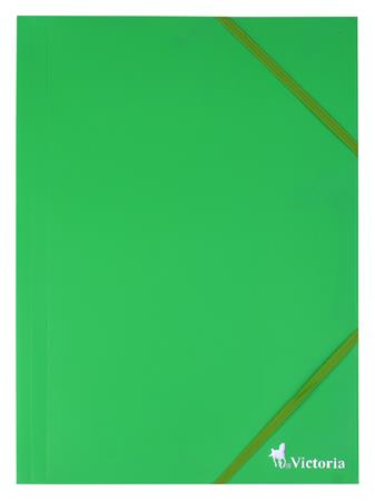 Gumis mappa, 15 mm, PP, A4, VICTORIA, zöld