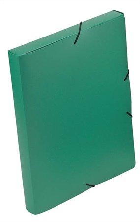 "Gumis mappa, 30 mm, PP, A4, VIQUEL ""Coolbox"", zöld"