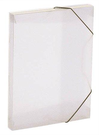 """Gumis mappa, 30 mm, PP, A4, VIQUEL """"Coolbox"""", áttetsző víztiszta"""