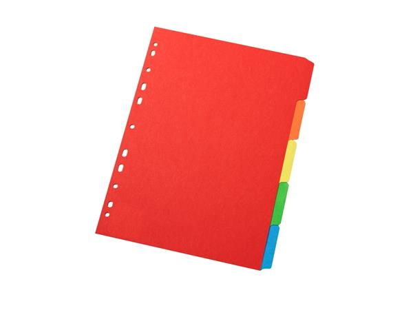 Regiszter, karton, A4, 12 részes, VICTORIA, színes