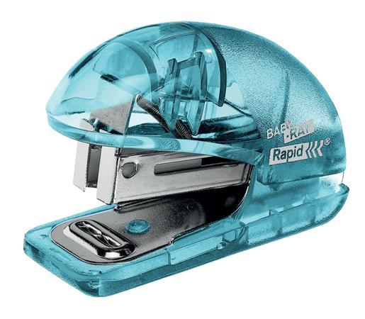 """Tűzőgép, mini, 24/6, 26/6, 10 lap, RAPID """"Colour` Ice"""", kék"""